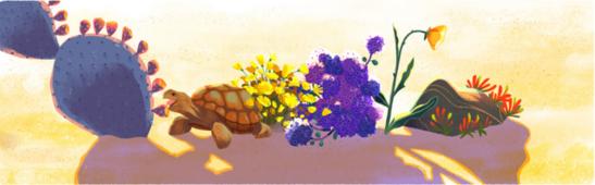 Earth day Google fauna flora  turtle